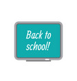 back to school concept icon in flat graphic vector image