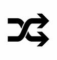 black random icon vector image