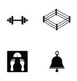 boxing icon set vector image vector image