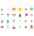 Cafeteria food icons set vector image vector image