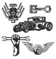 car service elements for creating your own logos vector image vector image