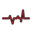cardio lifeline icon vector image