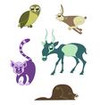 cartoon funny animals 7 vector image vector image