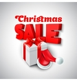 Christmas Sale with Santa hat vector image vector image