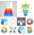 circle infographic set Business diagrams vector image vector image