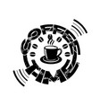 coffee quote and saying good for tshirt coffee vector image vector image