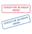 creative slogan here textile stamps vector image