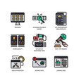 digital marketing icons set 4 vector image vector image