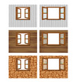 double open windows on a white background vector image