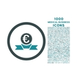 Euro Award Ribbon Rounded Icon with 1000 Bonus vector image vector image