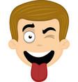 face man cartoon vector image vector image
