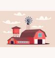 farmyard buildings flat vector image