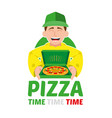 fast pizza delivery vector image vector image