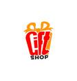 gift shop logo vector image
