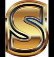 Golden Font Letter S vector image