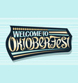 greeting card for oktoberfest vector image vector image