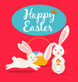 happy easter cute greeting card vector image vector image