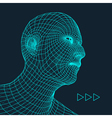 Head of the Person Human Head Model Face Scanning vector image vector image