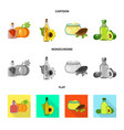 healthy and vegetable logo vector image