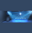 interior background with empty dance floor vector image vector image