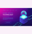 isometric global digital technology landing page vector image vector image