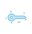 key car safe auto icon design vector image