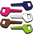 key isolated vector image vector image