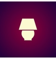 lamp icon Flat design style vector image vector image
