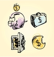 Money icons cartoon set vector image vector image