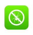 no spider sign icon digital green vector image vector image