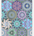 oriental seamless pattern with mandala vector image vector image
