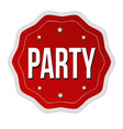 party label or sticker vector image vector image