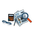 personal finance cartoon vector image vector image