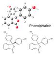 Phenolphthalein molecule - structural formula vector image vector image