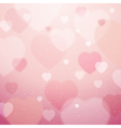 pink background with valentine hearts vector image vector image