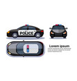 police car on white background isolated top side vector image