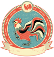 rooster label vector image vector image