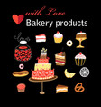 set different baking vector image vector image