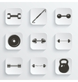 Set of sign weights for fitness or gym icons vector image vector image