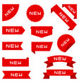 set ribbons labels banners collection vector image vector image