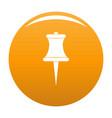 sharp pin icon orange vector image vector image