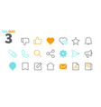 social ui pixel perfect well-crafted thin vector image