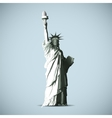 Statue Of Liberty Black Shadows Silhouette vector image vector image