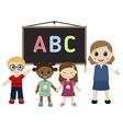 Teacher and kids vector image