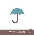 umbrella rain icon meteorology weather vector image