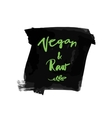 vegan raw label vector image