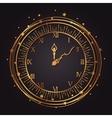 vintage watch golden icon vector image