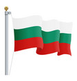 waving bulgaria flag isolated on a white vector image vector image