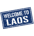 welcome to laos stamp vector image vector image