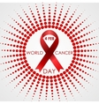 World Cancer Day background with halftone vector image